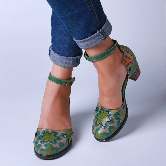 Hand Painted Genuine Leather Summer Shoe